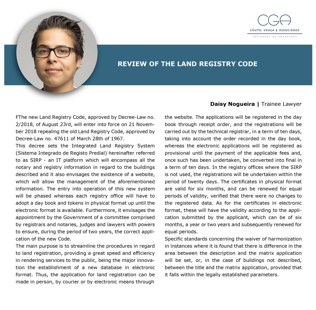 Article review of the Land register code